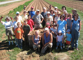 Crystal Spring CSA farmers and volunteers